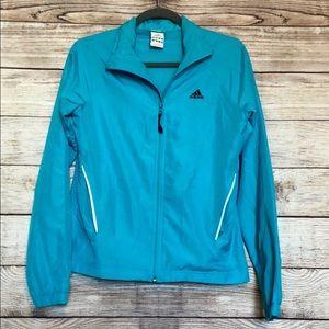 Adidas Bright Blue Zip Up Windbreaker Jacket Sz S